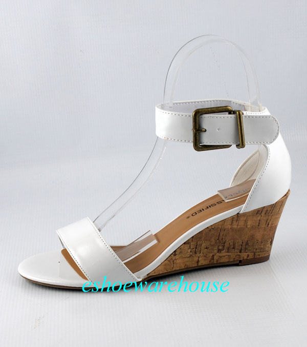 white patent cutie ankle trend low mid wedge single