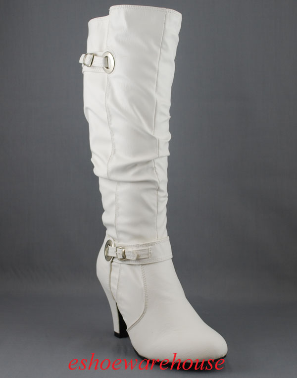 Slouchy Leatherette Boots