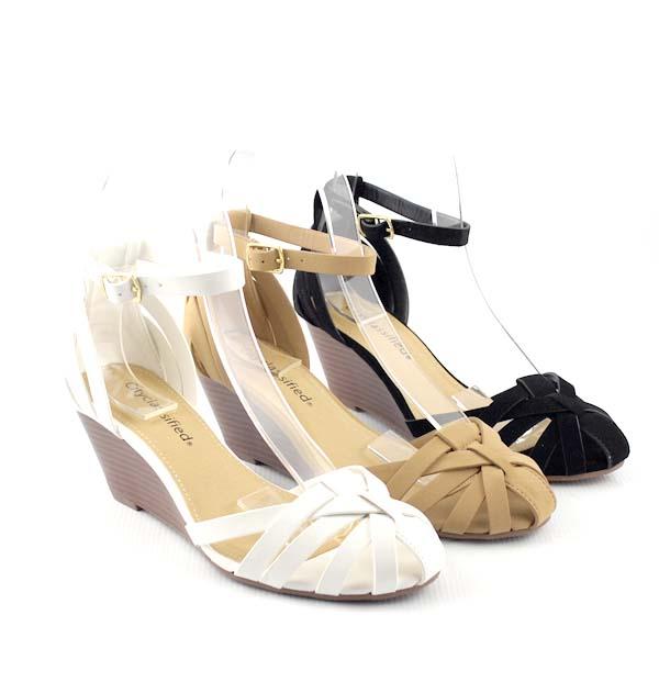 Closed Toe Wedge Sandals | CraftySandals.com